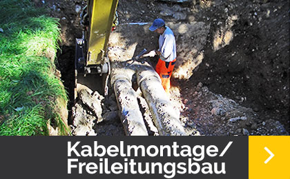 Kabelmontage - Freileitungsbau - Menner Tiefbau Breisach