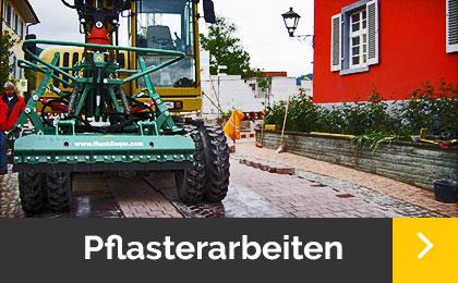 Pflasterarbeiten - Menner Tiefbau Breisach