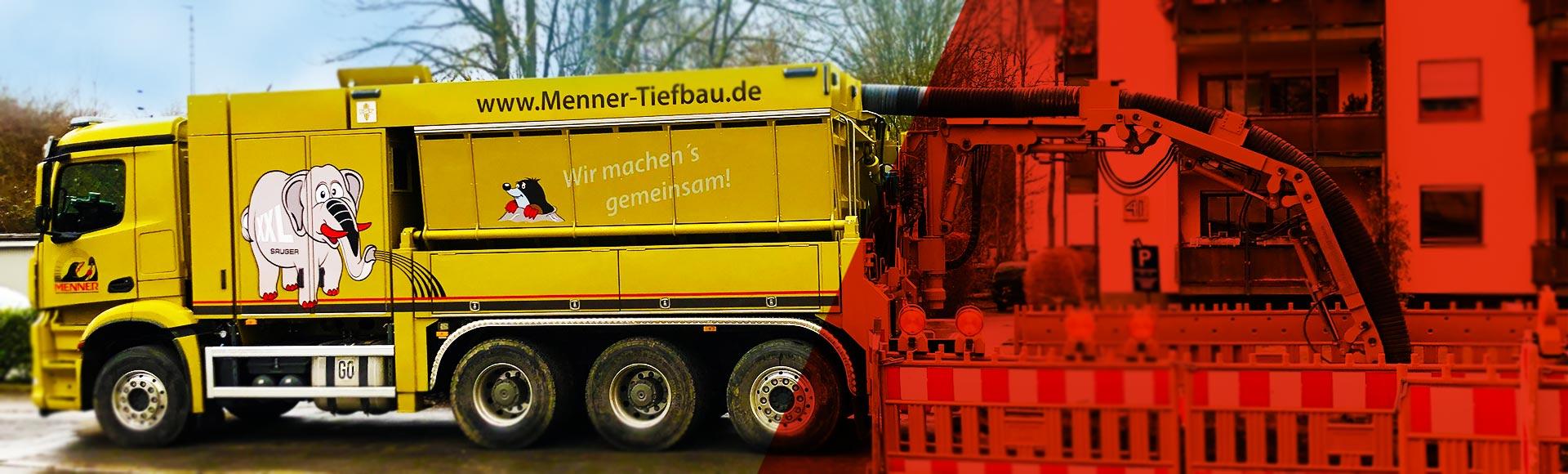 Saugbagger - Saugbaggerarbeiten - Menner Tiefbau Breisach