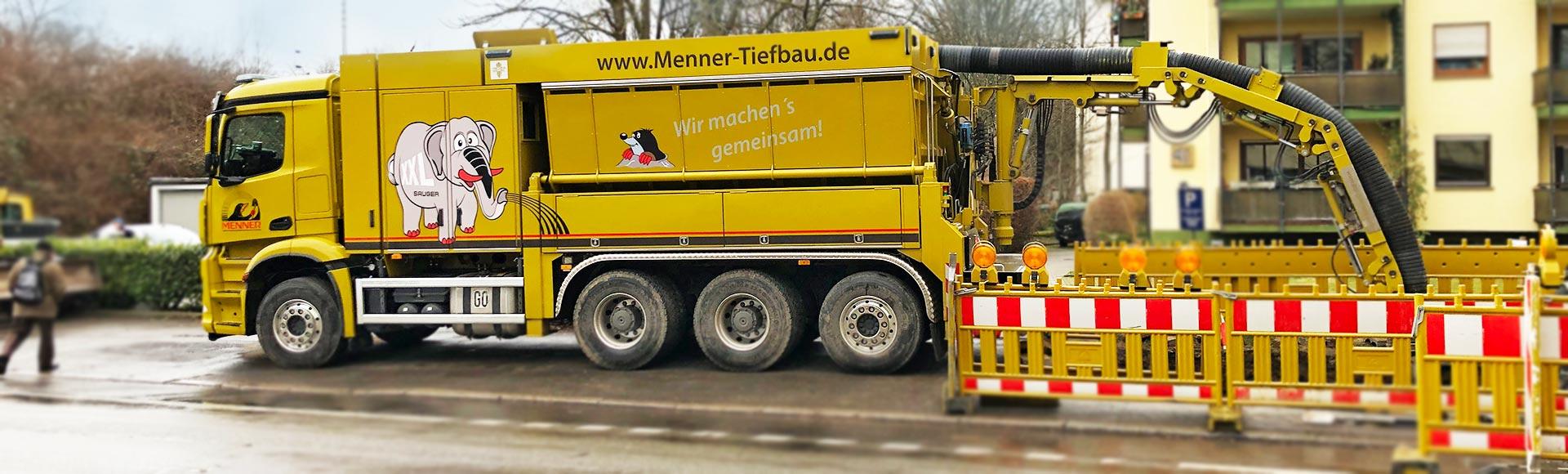 Menner Tiefbau Breisach Saugbagger - Saugbaggerarbeiten