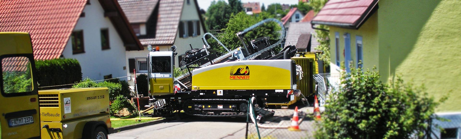 Menner Tiefbau Breisach Spülbohrer Spülbohrung